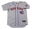 TOM SEAVER New York Mets 1973 Away Majestic Baseball Throwback Jersey - FRONT