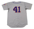 TOM SEAVER New York Mets 1973 Away Majestic Baseball Throwback Jersey - BACK