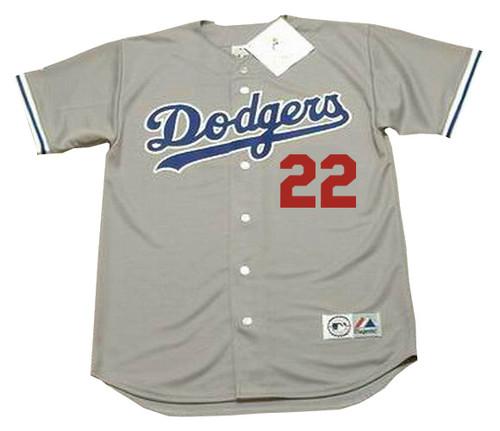 BRETT BUTLER Los Angeles Dodgers 1992 Away Majestic Baseball Throwback Jersey - FRONT