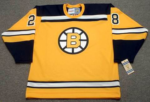 BILL GOLDSWORTHY 1966 Home CCM NHL Throwback Boston Bruins Jerseys - FRONT