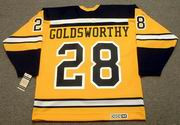 BILL GOLDSWORTHY 1966 Home CCM NHL Throwback Boston Bruins Jerseys - BACK