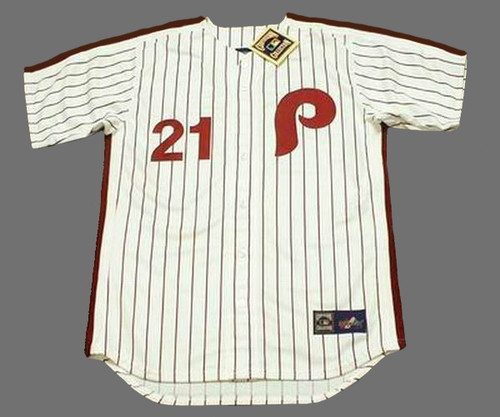 BAKE McBRIDE Philadelphia Phillies 1980 Majestic Cooperstown Throwback Home Baseball Jersey - Front