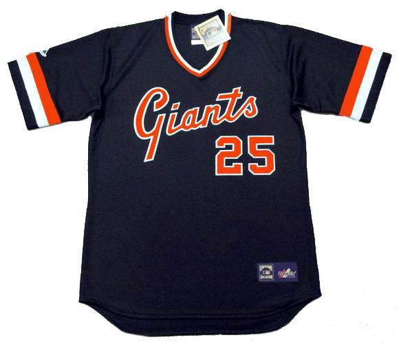 more photos ddec2 72e3c BARRY BONDS San Francisco Giants 1980's Majestic Cooperstown Away Baseball  Jersey