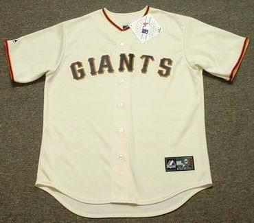 2d2d8f87a84 BARRY BONDS San Francisco Giants 2006 Majestic Throwback Home Baseball  Jersey - Custom Throwback Jerseys