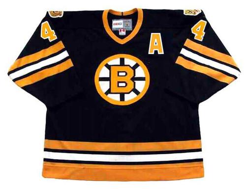 BOBBY ORR Boston Bruins 1975 Away CCM Vintage Throwback NHL Hockey Jersey - FRONT