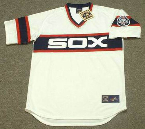 CARLTON FISK Chicago White Sox 1985 Majestic Throwback Baseball Jersey - FRONT
