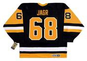 JAROMIR JAGR Pittsburgh Penguins 1992 CCM Vintage Home NHL Hockey Jersey - BACK