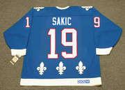 JOE SAKIC Quebec Nordiques 1992 Away CCM Throwback NHL Hockey Jersey - BACK