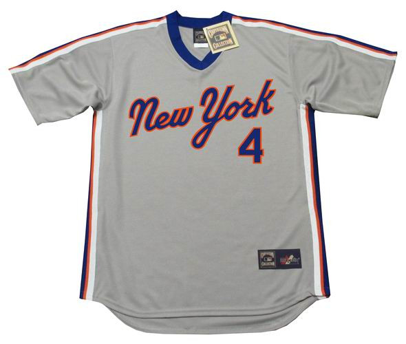 new styles 94df7 dfb0b LENNY DYKSTRA New York Mets 1987 Majestic Cooperstown Away Baseball Jersey