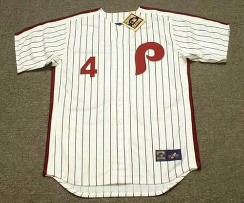 LENNY DYKSTRA Philadelphia Phillies 1990 Majestic Cooperstown Throwback Home Baseball Jersey - Front