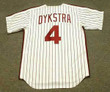 LENNY DYKSTRA Philadelphia Phillies 1990 Majestic Cooperstown Throwback Home Baseball Jersey - Back