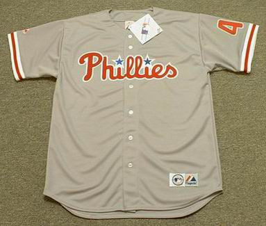 meet e25ff 8fb15 LENNY DYKSTRA Philadelphia Phillies 1993 Majestic Throwback Away Baseball  Jersey