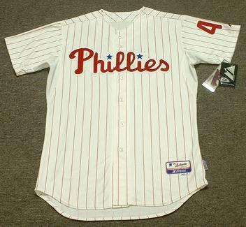 LENNY DYKSTRA Philadelphia Phillies Majestic Authentic Home Baseball Jersey  - Custom Throwback Jerseys 7d4ebaace97