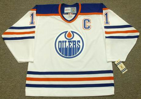 de590a0ba MARK MESSIER Edmonton Oilers 1990 CCM Vintage Throwback Home NHL Jersey -  Custom Throwback Jerseys