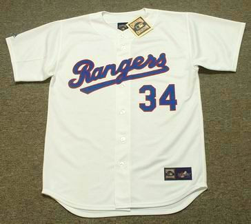 NOLAN RYAN Texas Rangers 1991 Home Majestic Baseball Throwback Jersey - FRONT