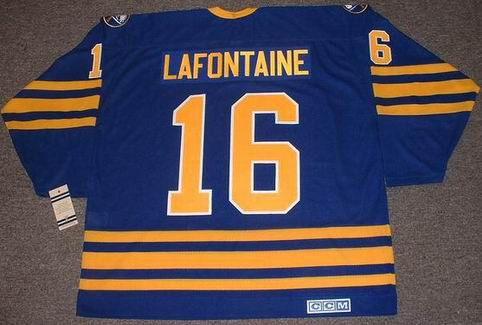 low priced d0e9b 67686 PAT LAFONTAINE Buffalo Sabres 1992 CCM Vintage Throwback Away Hockey Jersey