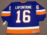 PAT LAFONTAINE New York Islanders 1990 Away CCM NHL Vintage Throwback Jersey - BACK