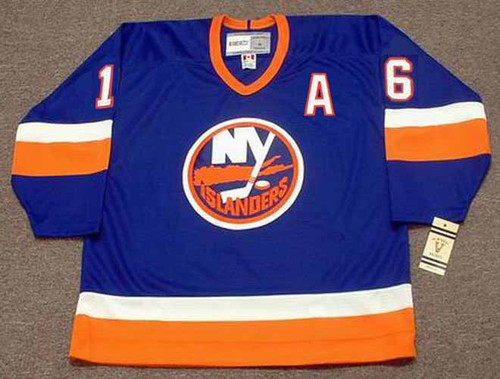 PAT LAFONTAINE New York Islanders 1990 Away CCM NHL Vintage Throwback Jersey - FRONT
