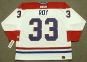 PATRICK ROY Montreal Canadiens 1993 Home CCM Throwback NHL Hockey Jersey - BACK