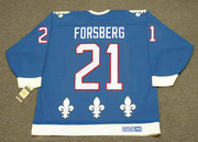PETER FORSBERG Quebec Nordiques 1994 Away CCM Throwback NHL Hockey Jersey - BACK