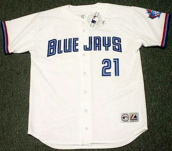 pretty nice 701de febaf ROGER CLEMENS Toronto Blue Jays 1997 Majestic Throwback Home Baseball Jersey
