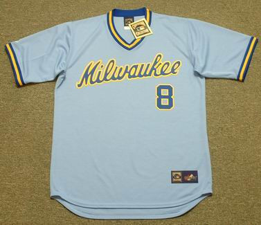 RYAN BRAUN Milwaukee Brewers 1980's Away Majestic Throwback Baseball Jersey - FRONT