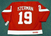 STEVE YZERMAN Detroit Red Wings 2002 Away CCM Throwback Hockey Jersey - BACK