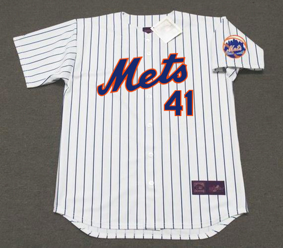 sale retailer c34ed 2743d TOM SEAVER New York Mets 1969 Home Majestic Baseball Throwback Jersey