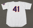 TOM SEAVER New York Mets 1969 Home Majestic Baseball Throwback Jersey - BACK