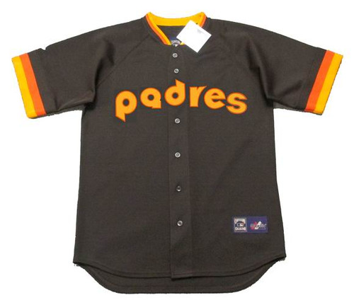 TONY GWYNN San Diego Padres 1984 Away Majestic Baseball Throwback Jersey - FRONT