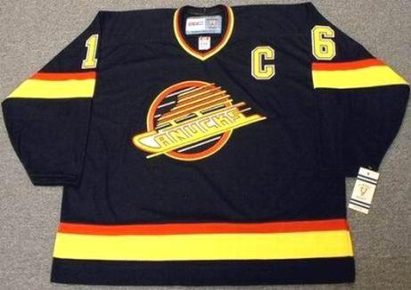 best service a8944 c70e0 TREVOR LINDEN Vancouver Canucks 1994 CCM Vintage Throwback NHL Hockey Jersey