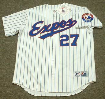 VLADIMIR GUERRERO Montreal Expos 1999 Home Majestic Baseball Throwback Jersey - FRONT