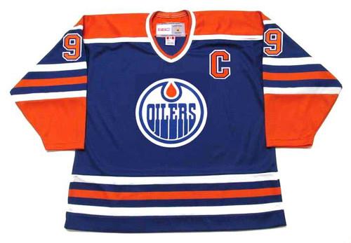WAYNE GRETZKY Edmonton Oilers 1987 Away CCM NHL Vintage Throwback Jersey - FRONT