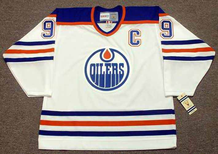 hot sales 5c587 7130b WAYNE GRETZKY Edmonton Oilers 1987 Home CCM NHL Vintage Throwback Jersey