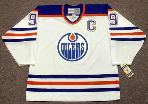 WAYNE GRETZKY Edmonton Oilers 1987 Home CCM NHL Vintage Throwback Jersey - FRONT