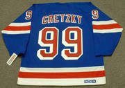 WAYNE GRETZKY New York Rangers 1999 Away CCM Throwback NHL Hockey Jersey - BACK