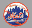 WILLIE MAYS New York Mets 1973 Away Majestic Baseball Throwback Jersey - SLEEVE CREST