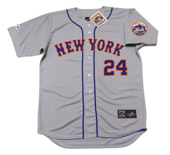 756845dbd WILLIE MAYS | New York Mets 1973 Away Majestic MLB Throwback Jersey