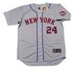 WILLIE MAYS New York Mets 1973 Away Majestic Baseball Throwback Jersey - FRONT