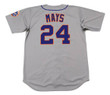 WILLIE MAYS New York Mets 1973 Away Majestic Baseball Throwback Jersey - BACK