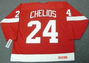 2002 CCM Away Throwback Vintage CHRIS CHELIOS  Red Wings Jersey - BACK