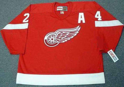 2002 CCM Away Throwback Vintage CHRIS CHELIOS  Red Wings Jersey - FRONT