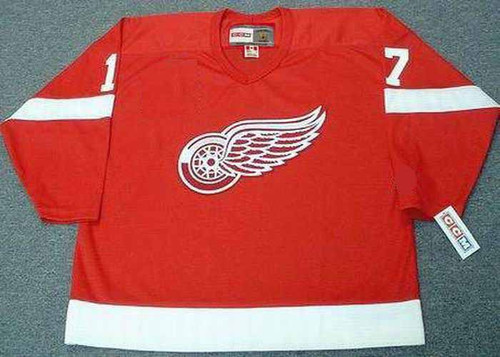 2002 Away CCM Throwback BRETT HULL Red Wings Jersey - FRONT