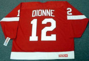 MARCEL DIONNE Detroit Red Wings 1974 Away CCM Throwback NHL Hockey Jersey - BACK