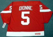 MARCEL DIONNE Detroit Red Wings 1971 Away CCM Throwback NHL Hockey Jersey - BACK