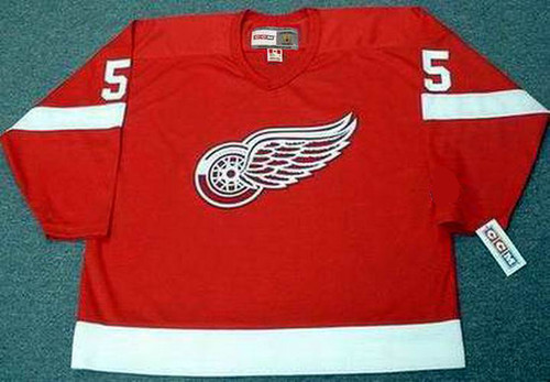 MARCEL DIONNE Detroit Red Wings 1971 Away CCM Throwback NHL Hockey Jersey - FRONT