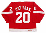 LUC ROBITAILLE Detroit Red Wings 2002 Away CCM Throwback NHL Hockey Jersey - BACK