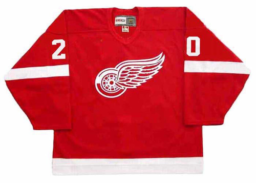 LUC ROBITAILLE Detroit Red Wings 2002 Away CCM Throwback NHL Hockey Jersey - FRONT