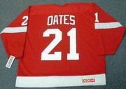1988 Away CCM Throwback ADAM OATES Detroit Red Wings Jersey - BACK