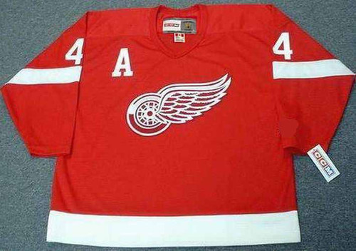 RED KELLY Detroit Red Wings 1950's Home CCM Throwback NHL Hockey Jersey - FRONT